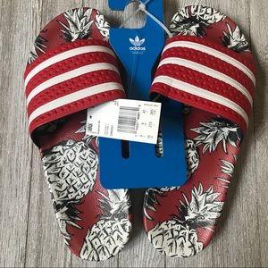 Adidas x FARM collab Adilette pineapple slides 10